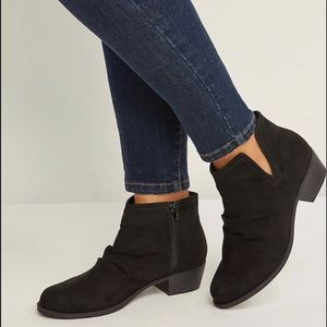 🔥Lane Bryant Black Scrunched Ankle Bootie NWT